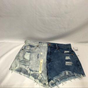 BlankNYC denim Two tone jean shorts size 27